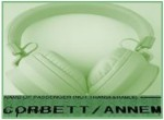 Picture of headphones over name - Corbett Anne M.