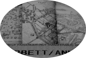 map collage (in black and wihite) - site icon for Corbett Translations, Limerick, Ireland